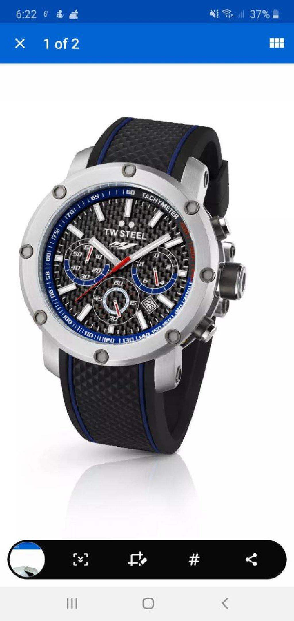 Καινουργιο TW Steel TW925 Men's Yamaha Factory Chronograph 48mm Black Dial Rubber Watch κ