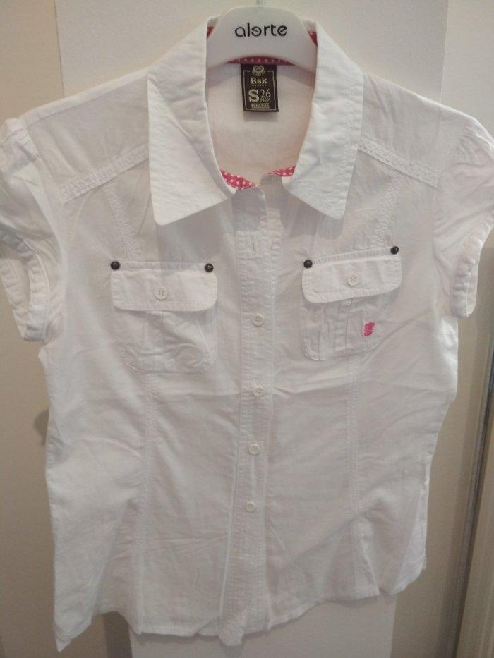 Λευκό πουκάμισο (Bershka, no S). Photo 0