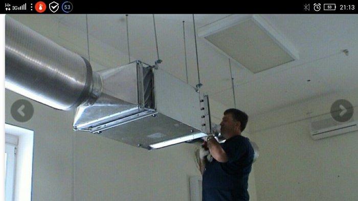 Крепление вентиляционных коробов