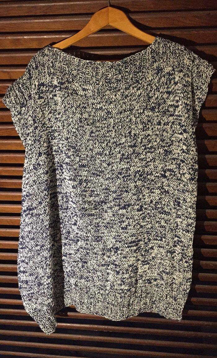 Χειροποίητο αμάνικο cotton ριχτό πλεκτό. Από 100% βαμβακερό νήμα . Τιμ. Photo 0