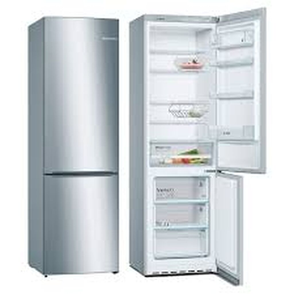 Новый Двухкамерный Серый холодильник Bosch