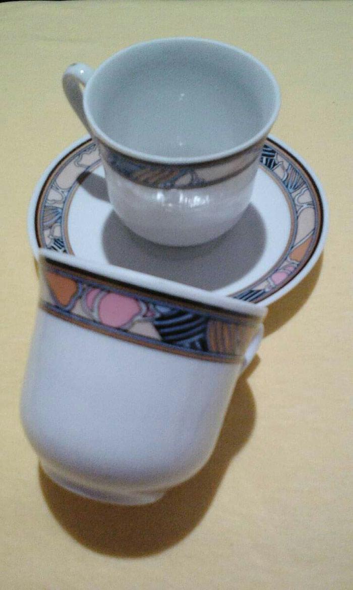 Σετ 5 φλιτζάνια  του καφέ πορσελάνη  (ελληνικό και espresso ) αχρησιμοποιητα