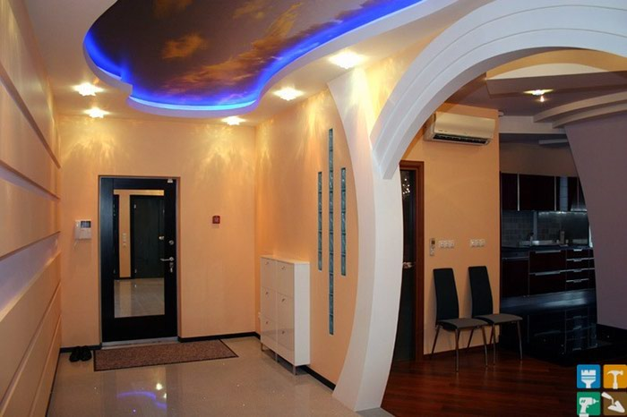 Потолки из  гипсокартона ,установка дверей ,кладка ламината ,обои в Беловодском