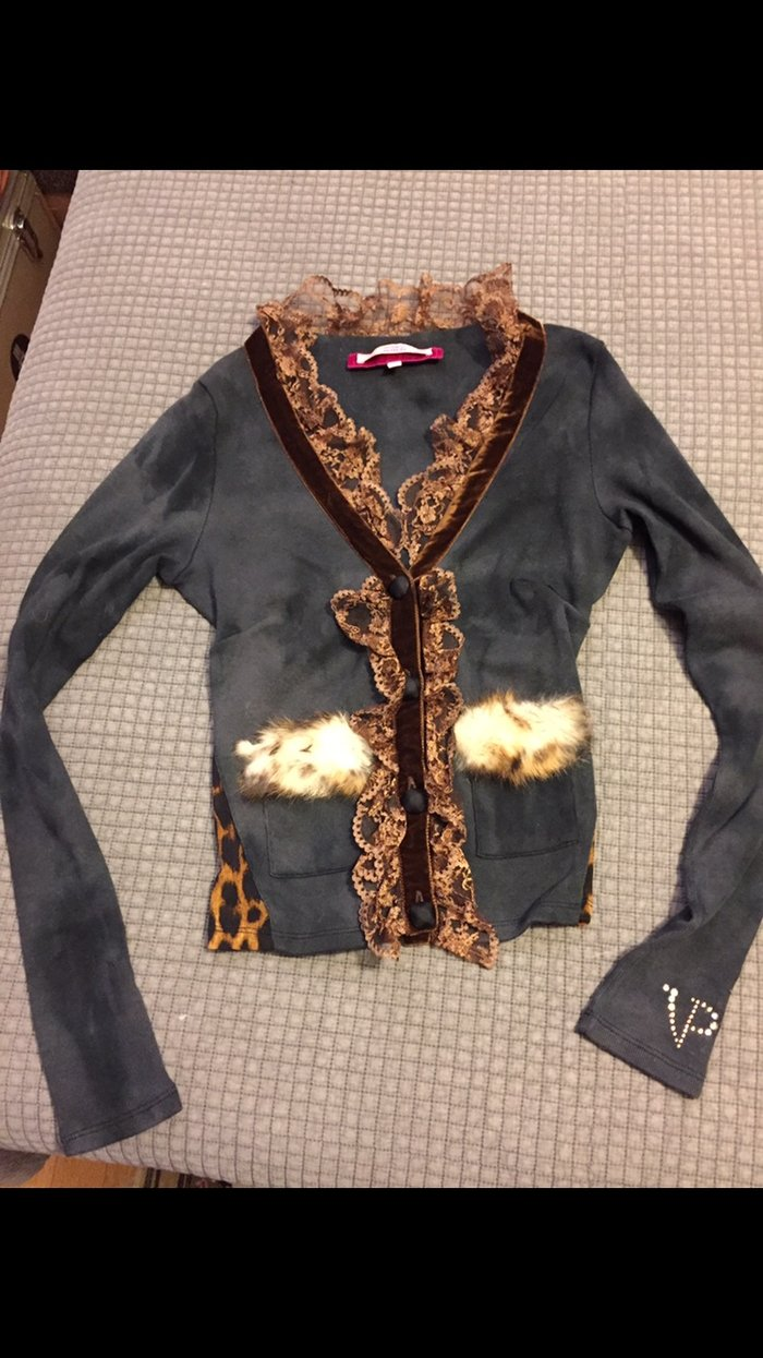 Μπλούζα Voyage Passion με δαντέλα κ leopard λεπρομέριες