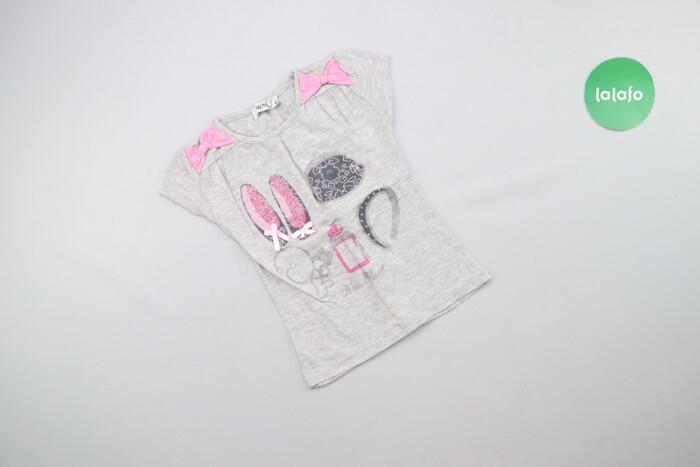 Дитяча футболка з блискітками Monil, вік 5 р., зріст 110 см    Довжина: Дитяча футболка з блискітками Monil, вік 5 р., зріст 110 см    Довжина