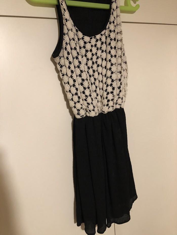 Όμορφο φόρεμα μαύρο και κρέμα από LIMITE size L!!. Photo 1
