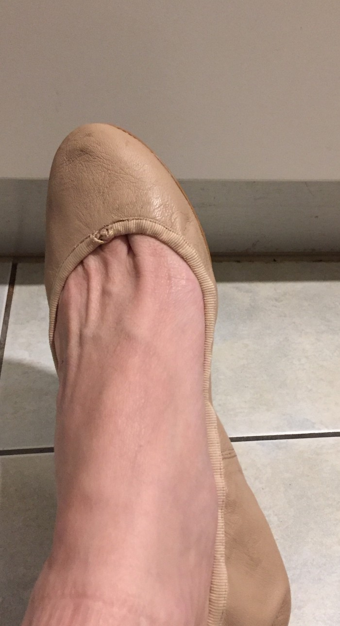 Zara Nude μαλακές μπαλλαρίνεζ λεπτές, με λάστηχο πίσω. Νο 38. Photo 3