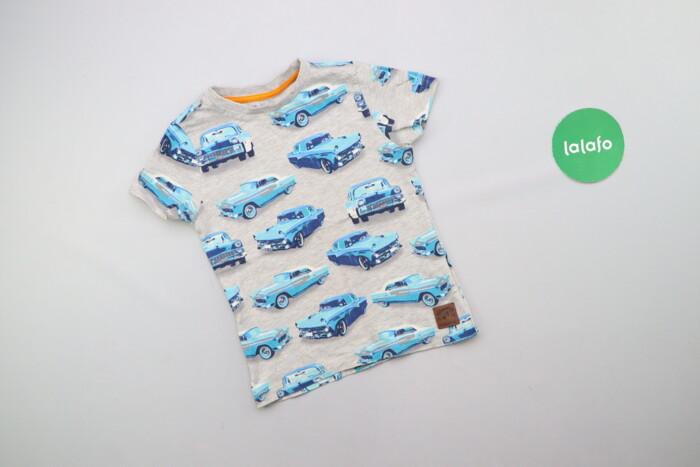 Дитяча футболка з машинками F&F вік 3-4 р., зріст 104 см    Довжин: Дитяча футболка з машинками F&F вік 3-4 р., зріст 104 см    Довжин