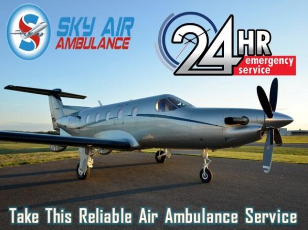 Sky Air Ambulance in Bhopal with Full Medical Amenities