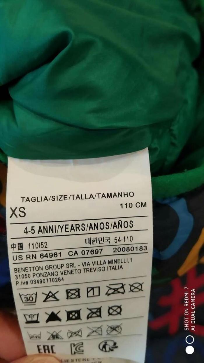 Benetton μπουφαν για παιδακι 4-6 ετων αριστη κατασταση. Photo 2