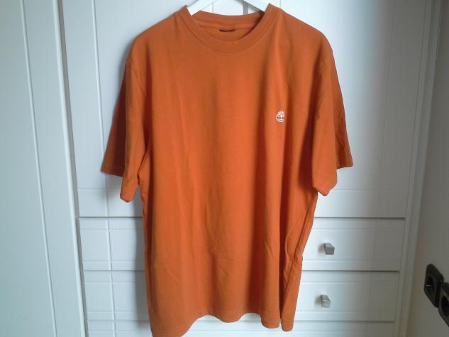 Aνδρικη μπλουζα timberland χρωματος πορτοκαλι και μεγεθους L-XL.. Photo 1