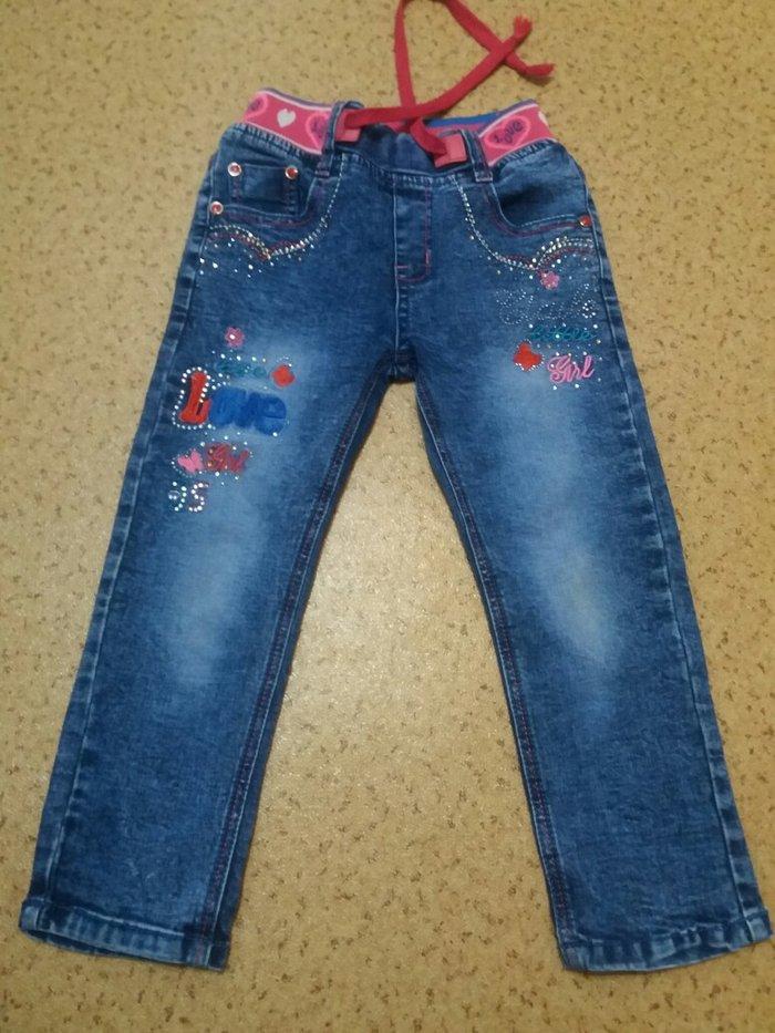 Продаю джинсы на девочку 3-5 лет. Состояние идеальное! в Бишкек