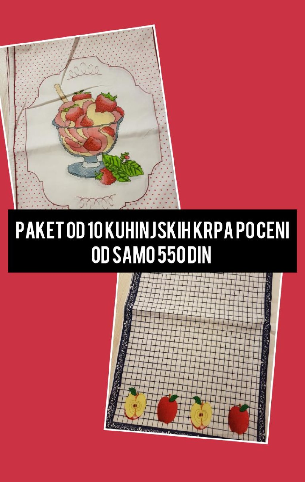 Paket od 10 kuhinjskih krpa po ceni od samo 550 din