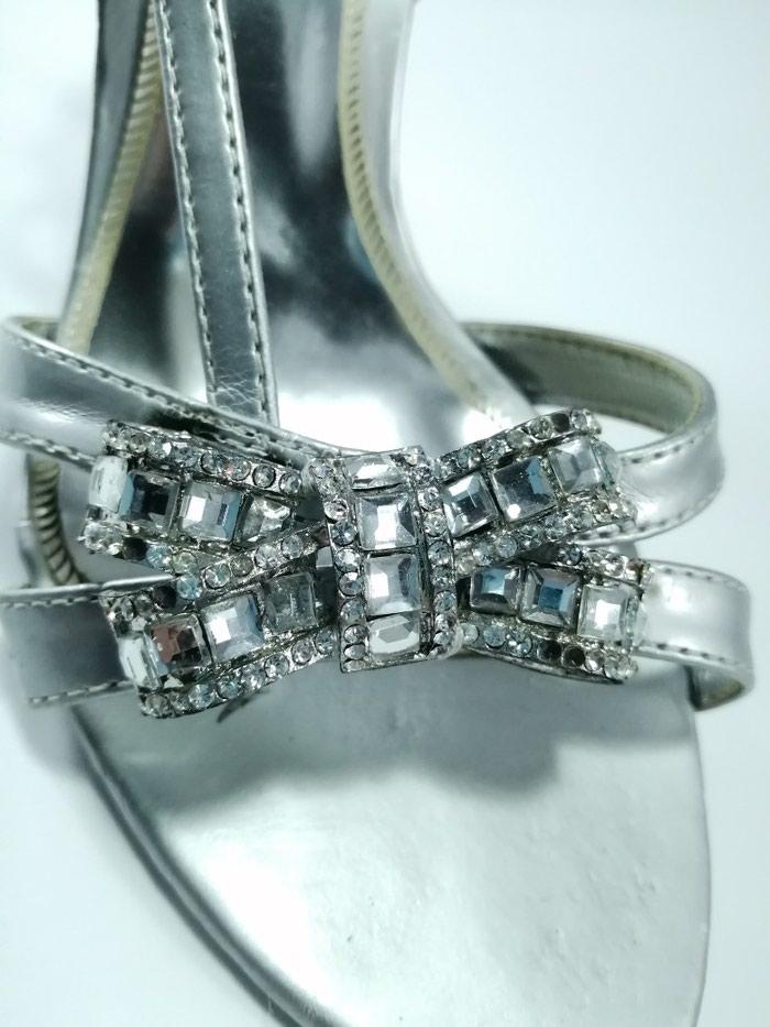 Srebrne sandale. Velicina 36. Photo 1