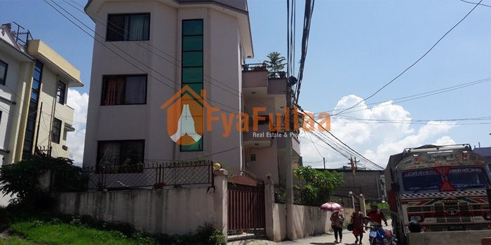 A beautiful flat system house having land area 0-3-2-0 of 2.5 stories, in Kathmandu