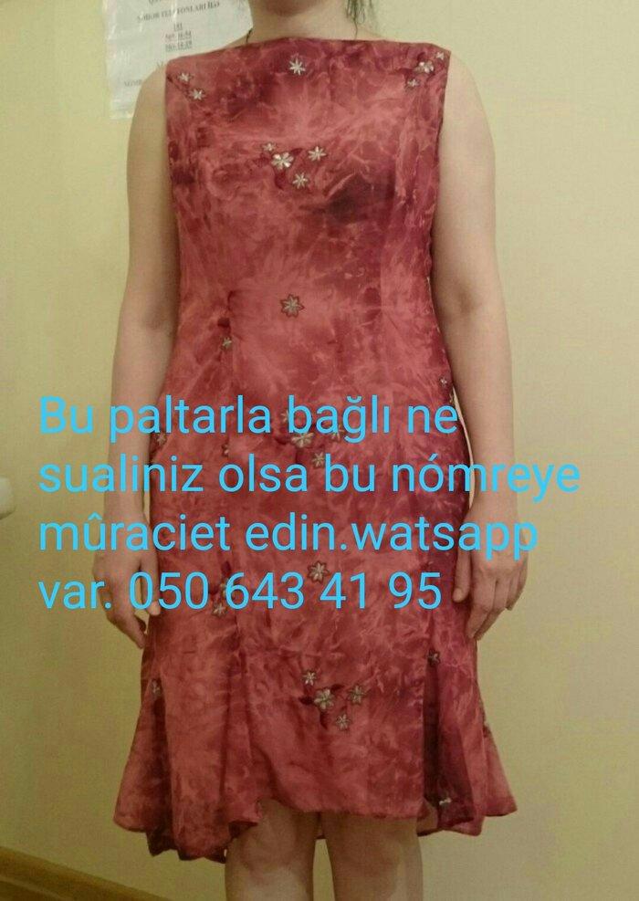 Şifon elbise.Gózel górûnûşe malikdir.Serin saxlayır.36-38. Photo 0