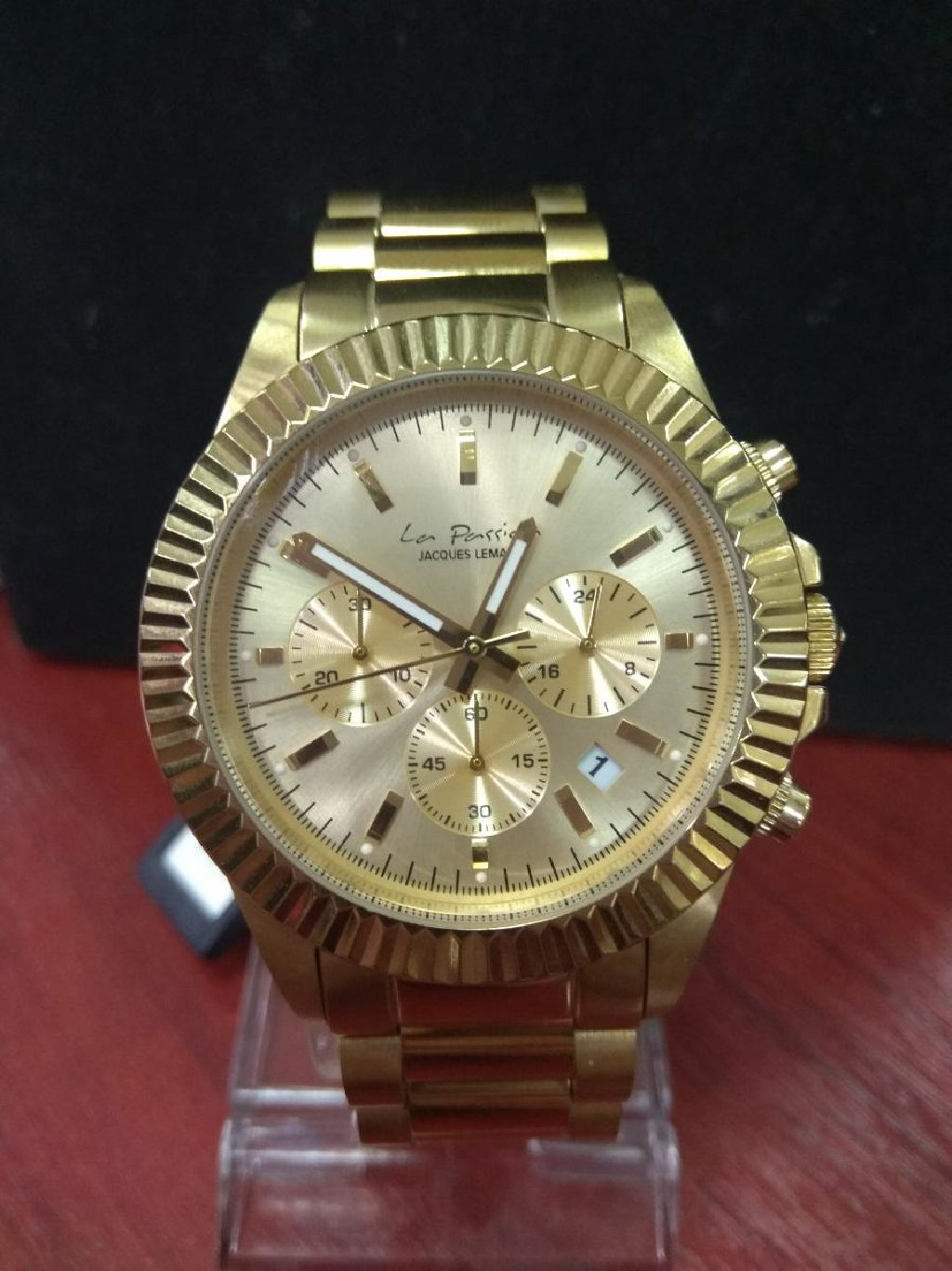 Желтые Мужские Наручные часы Jacques Lemans