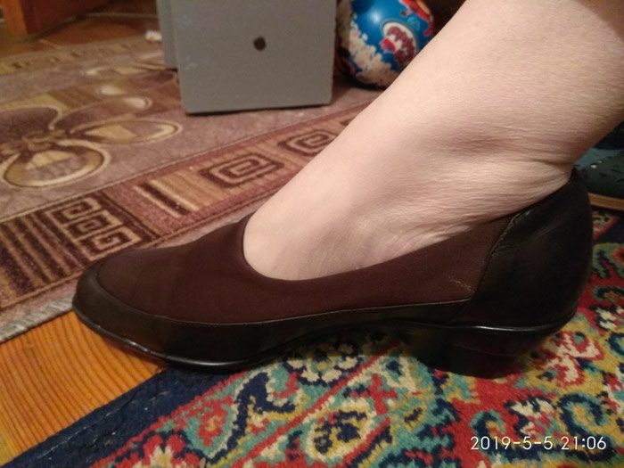 2c681decd Туфли, 39-40 размер, б/у, коричневые, частично тряпочний за 300 KGS ...