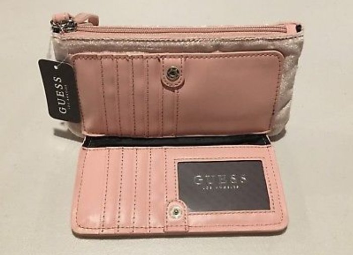 Guess velvet pink wallet. Αυθεντικο με το. Photo 1