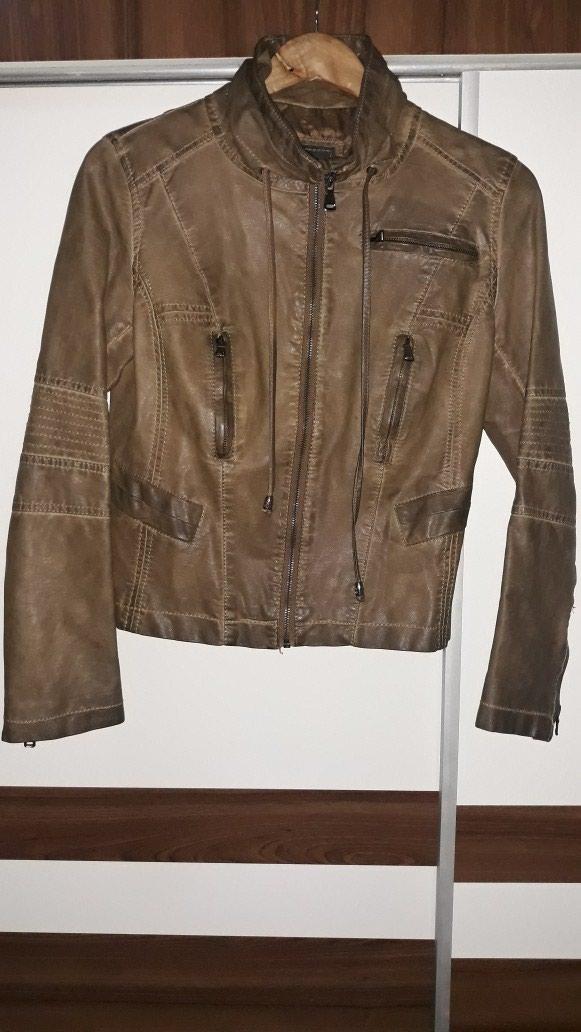 Braon jakna od skaja, kao nova, broj M
