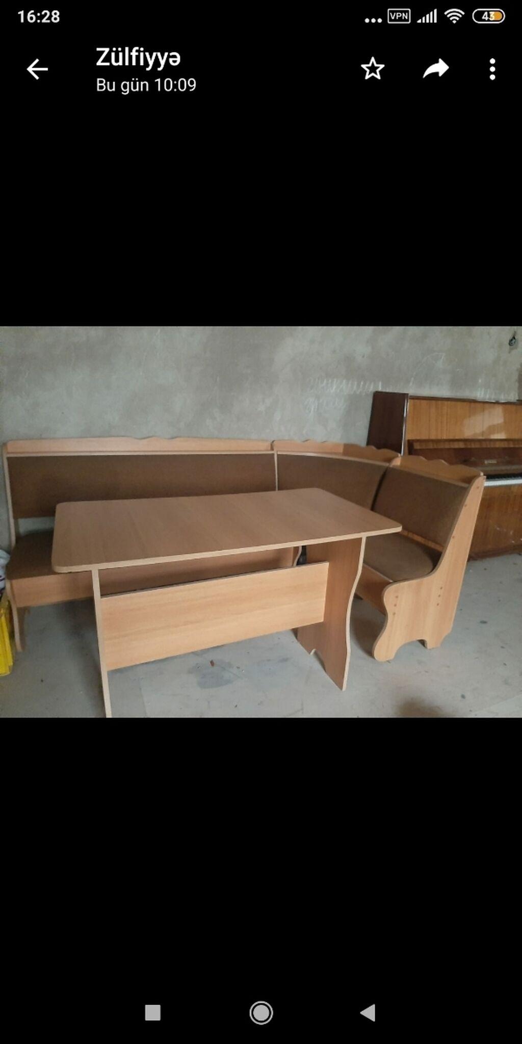 Künc metbex divan ve stol ideal veziyyetdedir