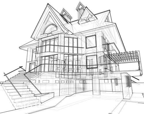 Рисуем чертёж и дизайн зданий, частных домов в Душанбе
