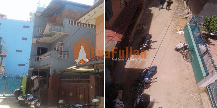 A strongly pillar system built house having land area 0-1-3-0, facing in Kathmandu