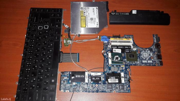 Запчасти от ноутбука dell pp17s дисковод материнка процесор батарея клавиатура