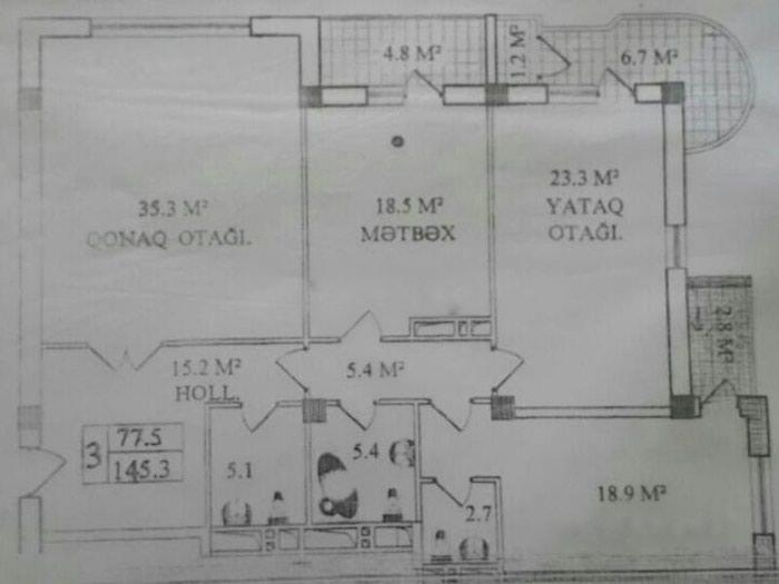 Mənzil satılır: 3 otaqlı, 145 kv. m., Bakı. Photo 3
