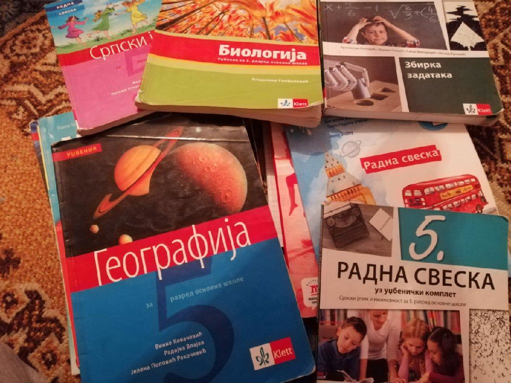 Udžbenici od prvog do petog razr