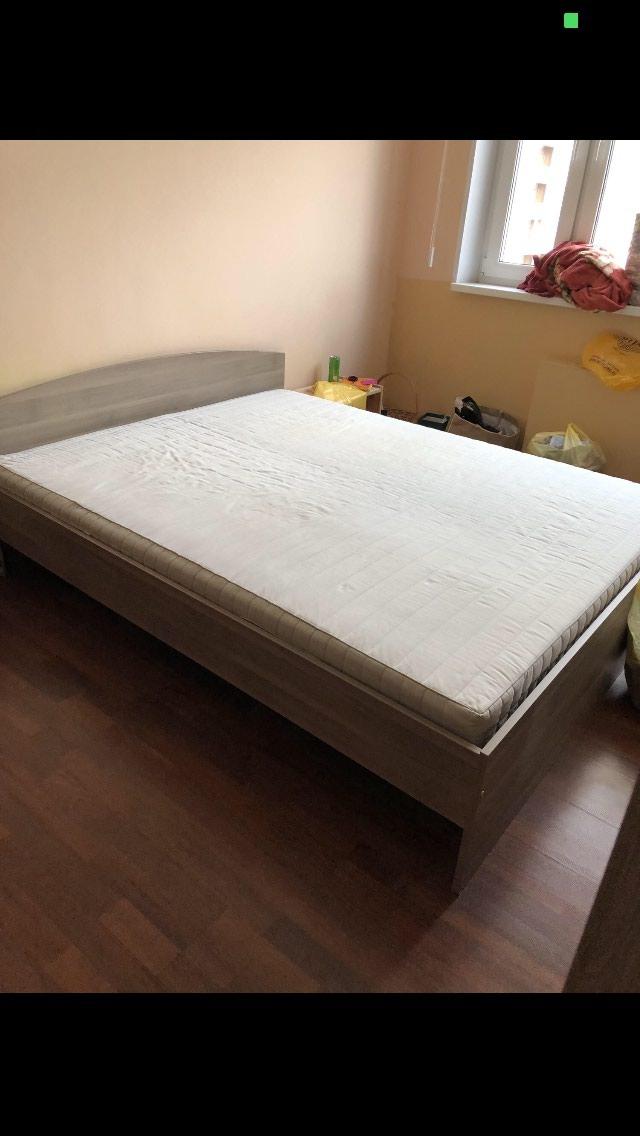 кровать с матрасом икеа за 13000 Kgs в бишкеке двуспальные кровати