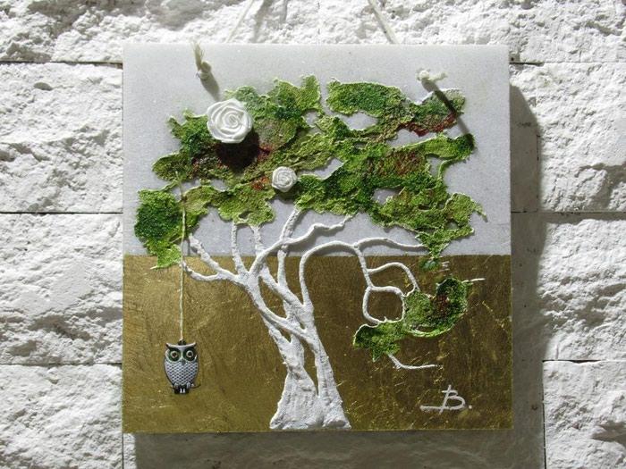 ΧΕΙΡΟΠΟΙΗΤΑ μοντέρνα δέντρα πάνω σε. Photo 4