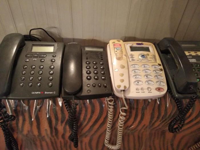 Телефонные аппараты для дома  рабочие б/у по 150 сом за каждый. Photo 0