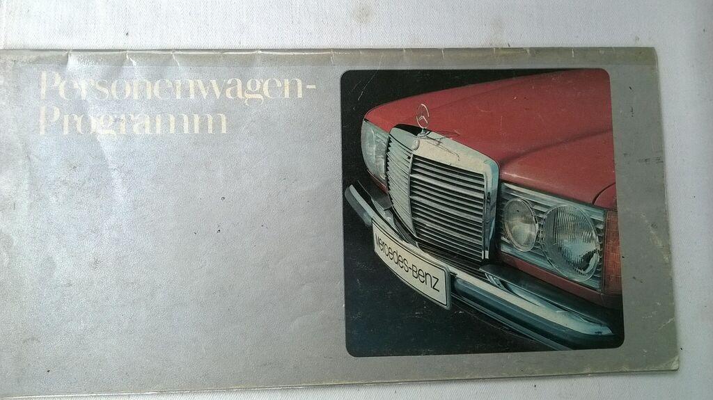Prospekt program Mercedes 123 bez teh