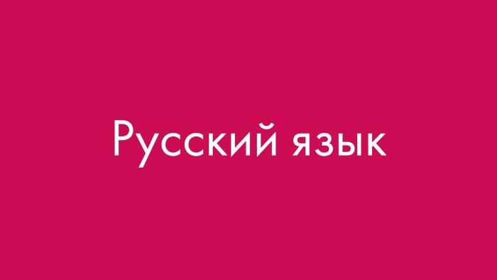 Обучение русского языка