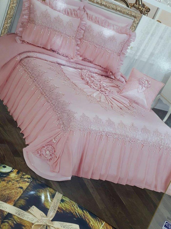 Красивое розовое покрывало  хорошего качества. Photo 0