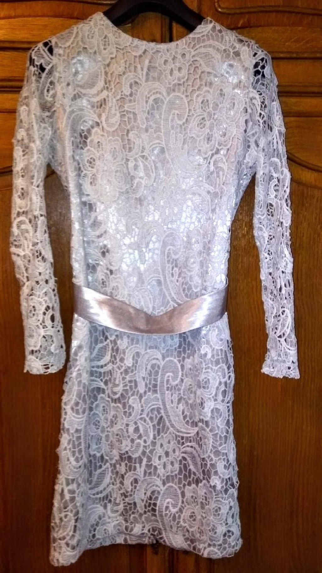 Svecana haljina od cipke br 36 NOVO