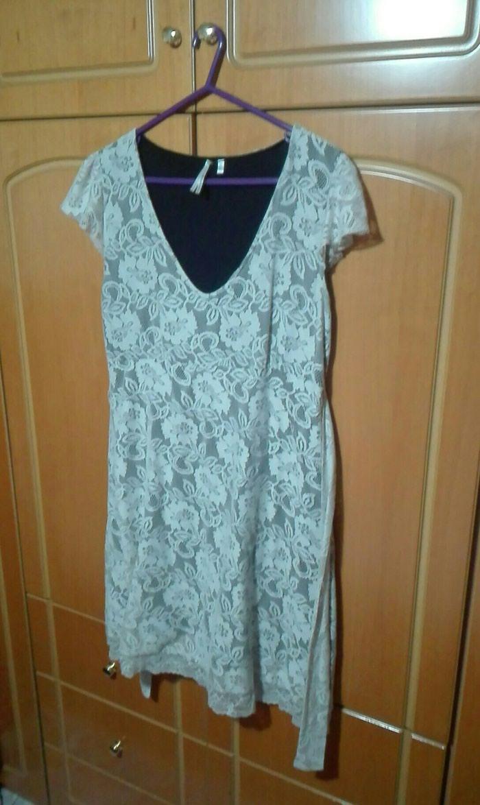 Φόρεμα δαντελενιο μπεζ μαύρο large σε Λαμία