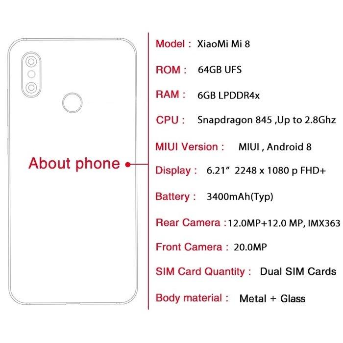 Продаю новый Xiaomi mi8 dual sim 64GB телефон. Photo 2