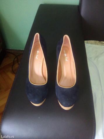 cipele u crno-braon kombinaciji vel.38 nove - Smederevo
