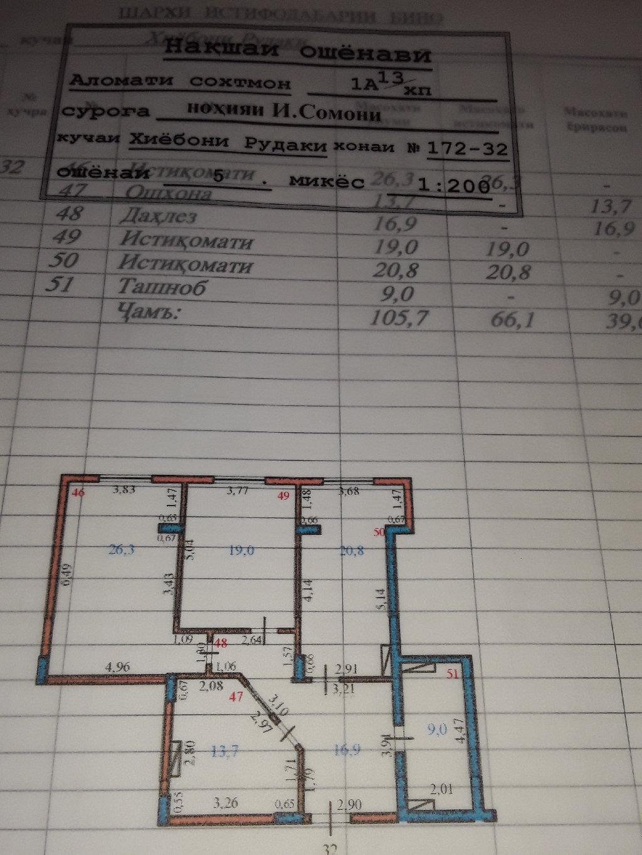 Продается квартира: 3 комнаты, 106 кв. м