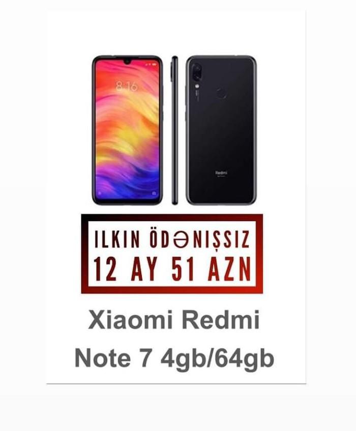 Yeni Xiaomi Redmi Note 7 64 GB qara. Photo 0