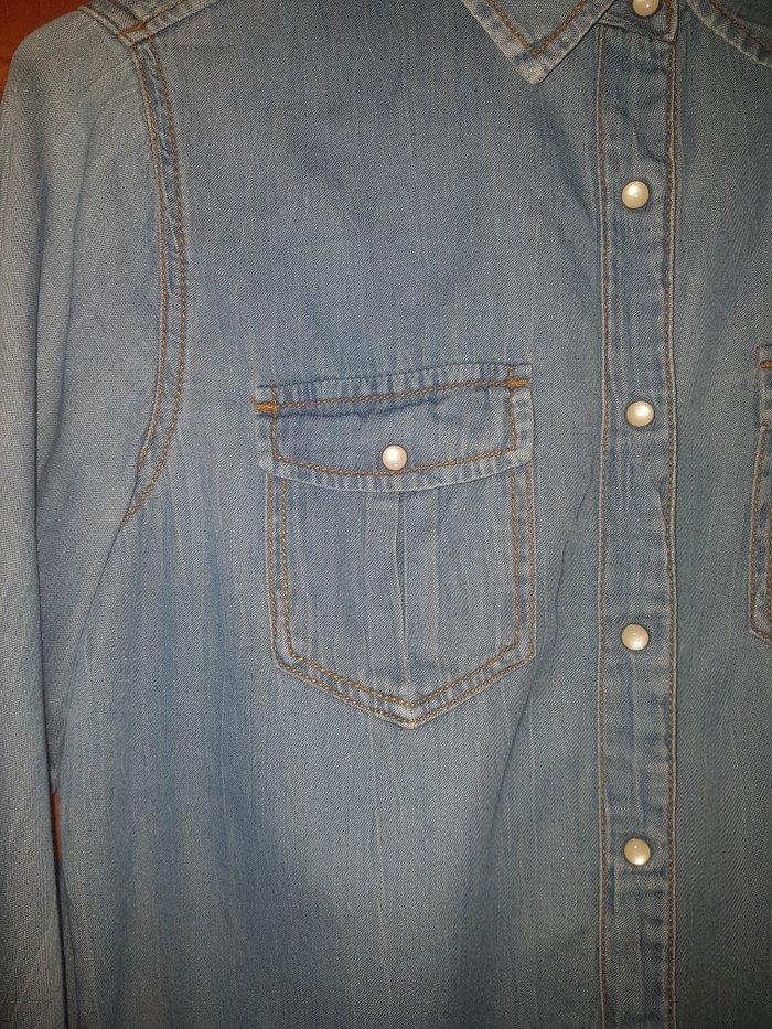 Pull and bear  Τζιν πουκάμισο σαν καινούριο νούμερο medium. Photo 1