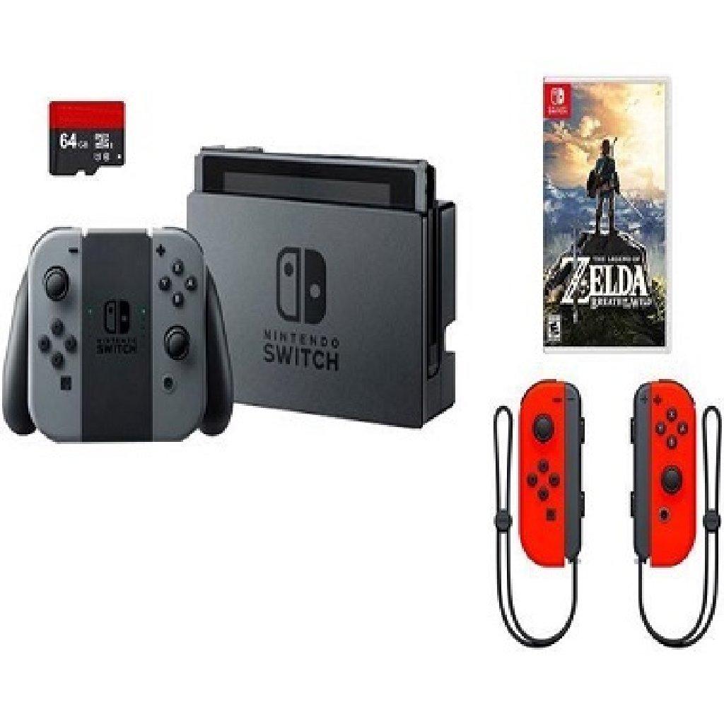 BRAND NEW Nintendo Switch 32GB Gray Console Bundle Zelda