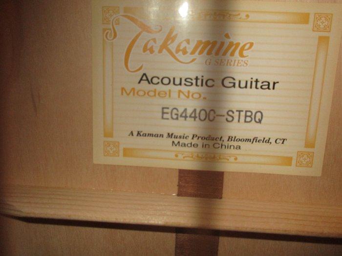 Πωλείται ακουστική κιθάρα Τakamine EG440C-STBQ. Photo 1