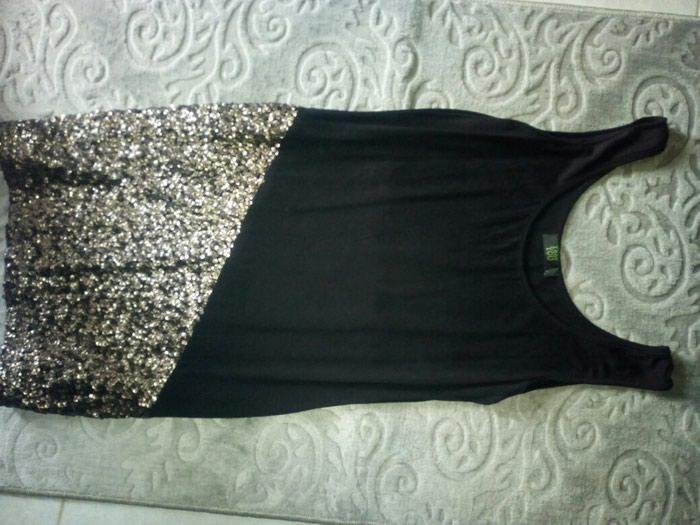 ΣΕΒΗ Μινι μαύρο φόρεμα με πατέρες κ  με έξτρα μουσελίνα από πάνω! σε Γαλατάς