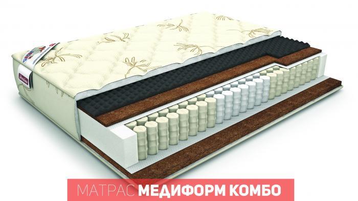Ортопедический матрас «медиформ комбо» (сделано в россии)
