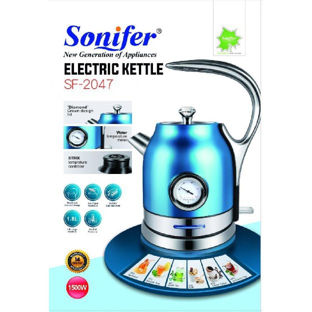 Электрический чайник Красочный Премиум Серийный измеритель температуры