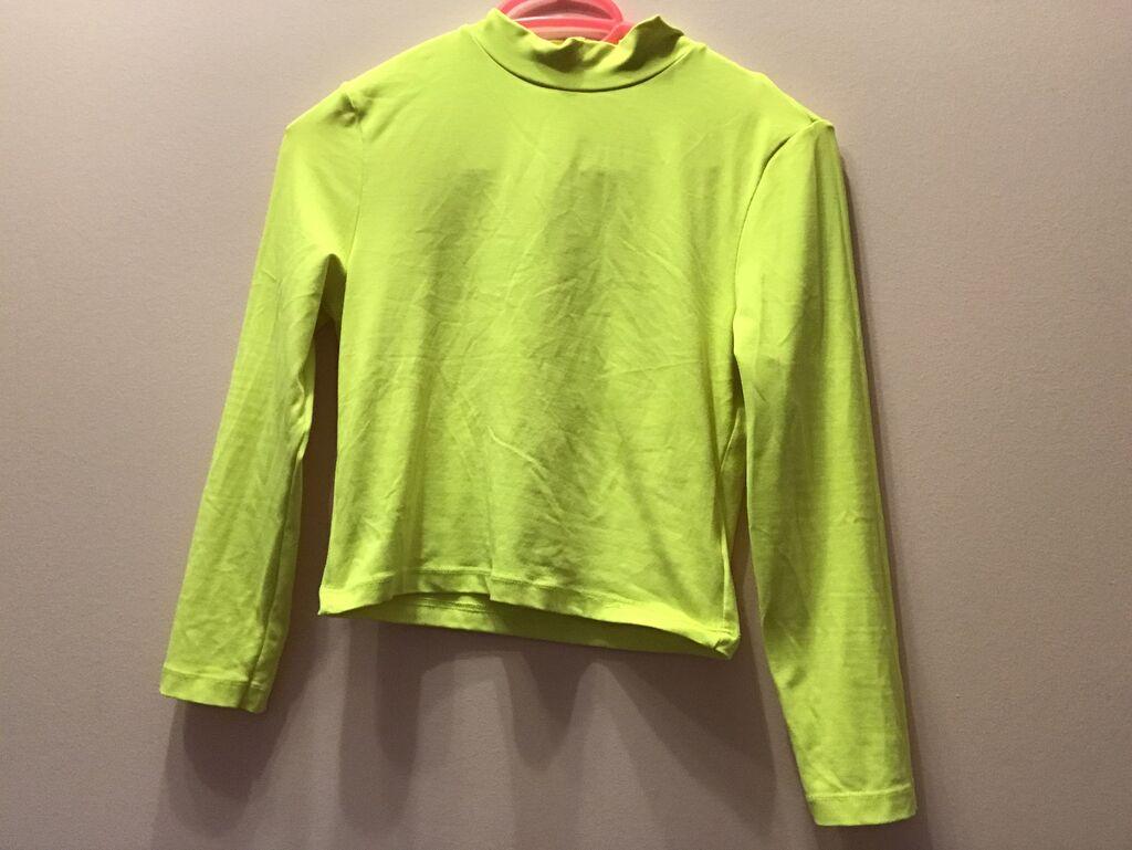 Αθλητικές φόρμες - Κέρκυρα: Φωσφοριζε ελαστικη μπλουζα νουμερο M
