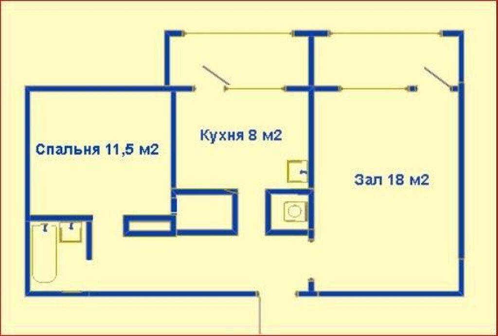 Сдается квартира: 2 комнаты, 53 кв. м, Бишкек